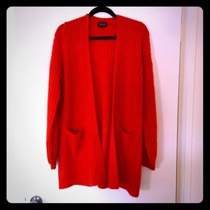 Red Topshop Oversized Sweater